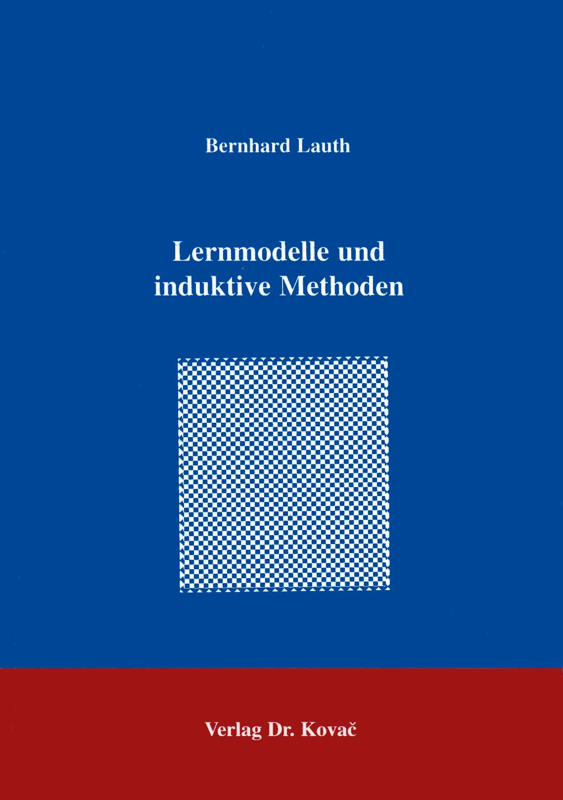 Cover: Lernmodelle und induktive Methoden