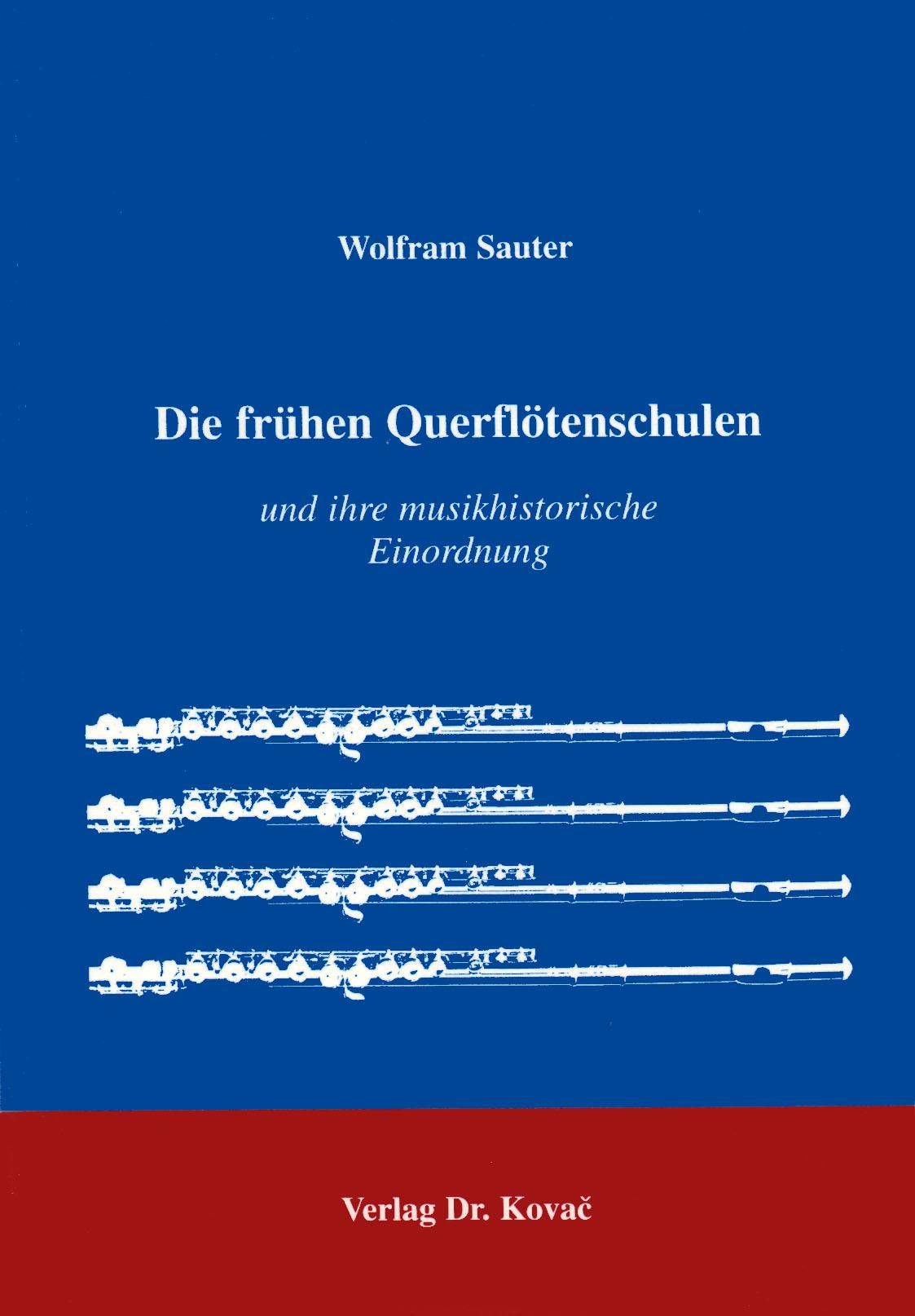 Cover: Die frühen Querflötenschulen