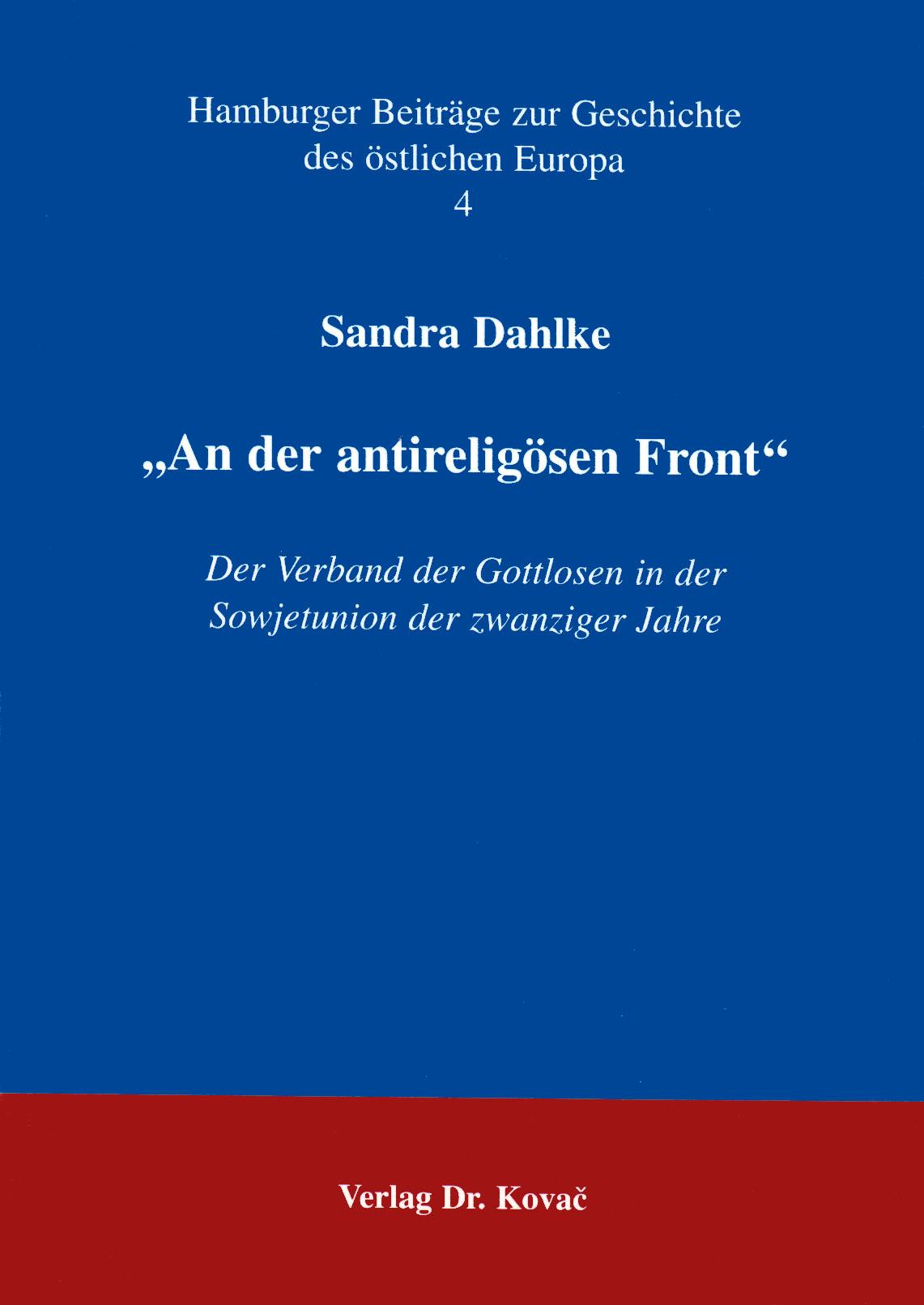 Cover: An der antireligiösen Front
