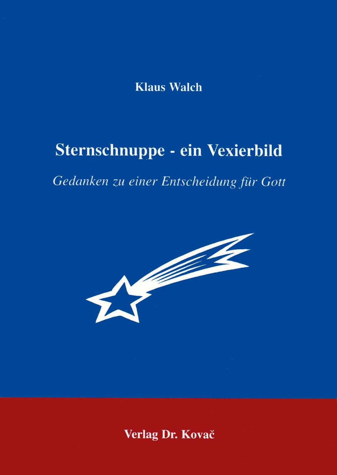 Cover: Sternschnuppe - ein Vexierbild