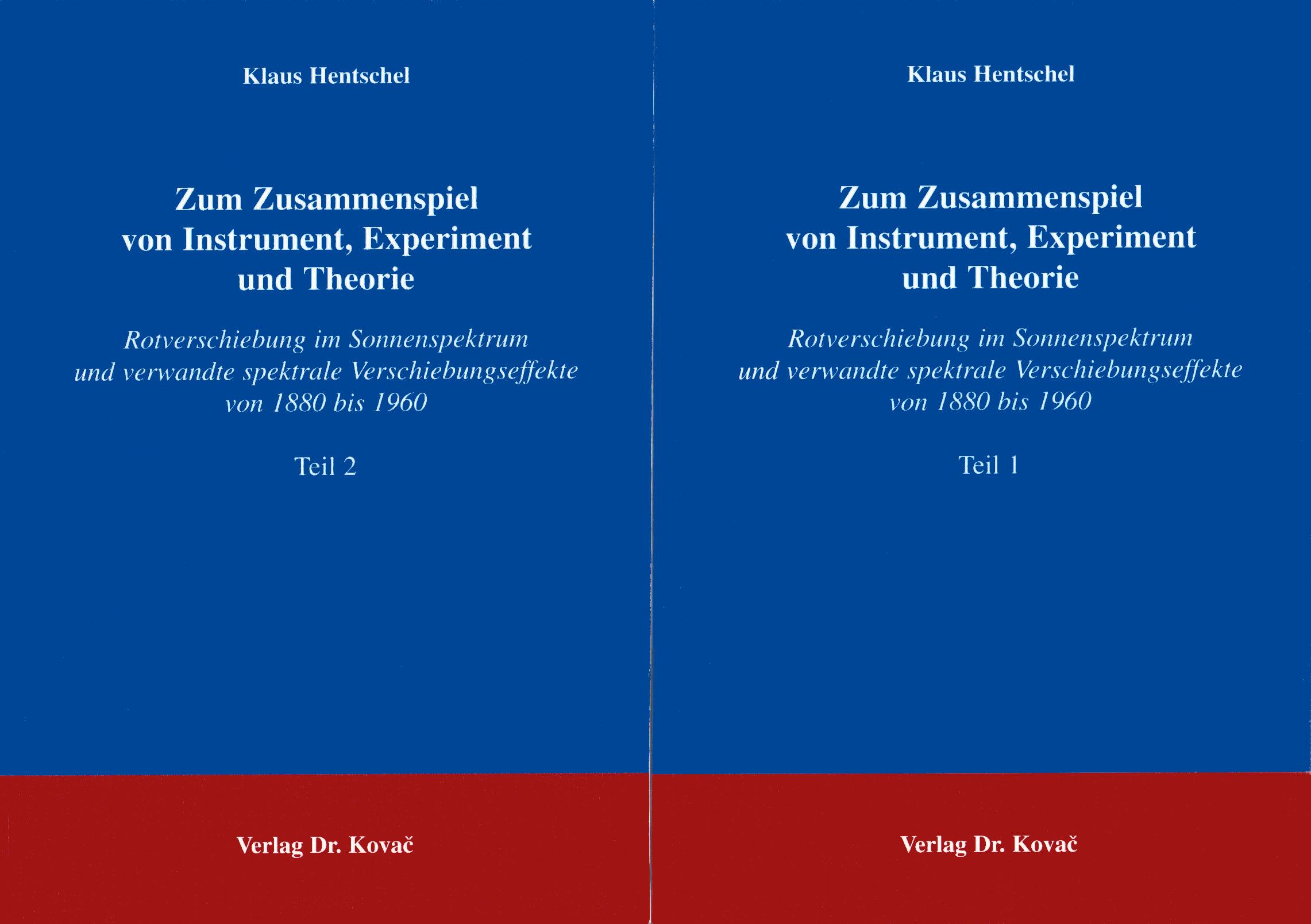Cover: Zum Zusammenspiel von Instrument, Experiment und Theorie