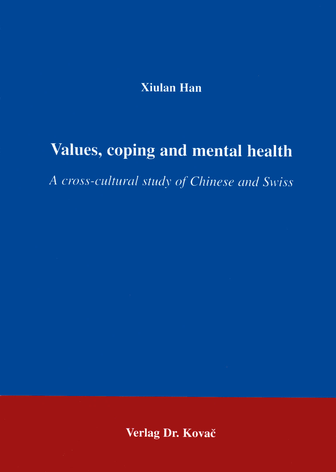 Cover: Values, coping and mental health