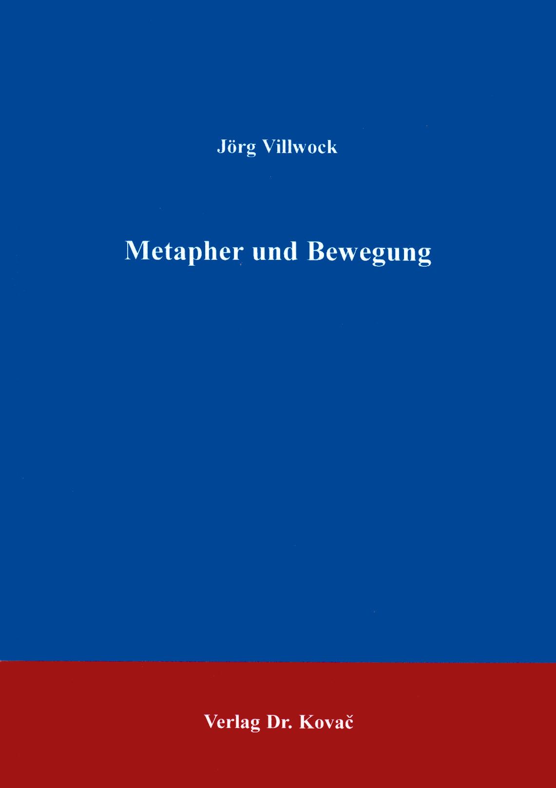 Cover: Metapher und Bewegung