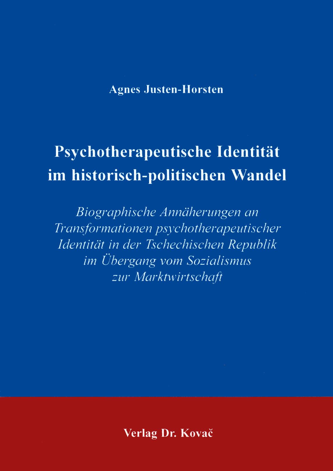 Cover: Psychotherapeutische Identität im historisch-politischen Wandel