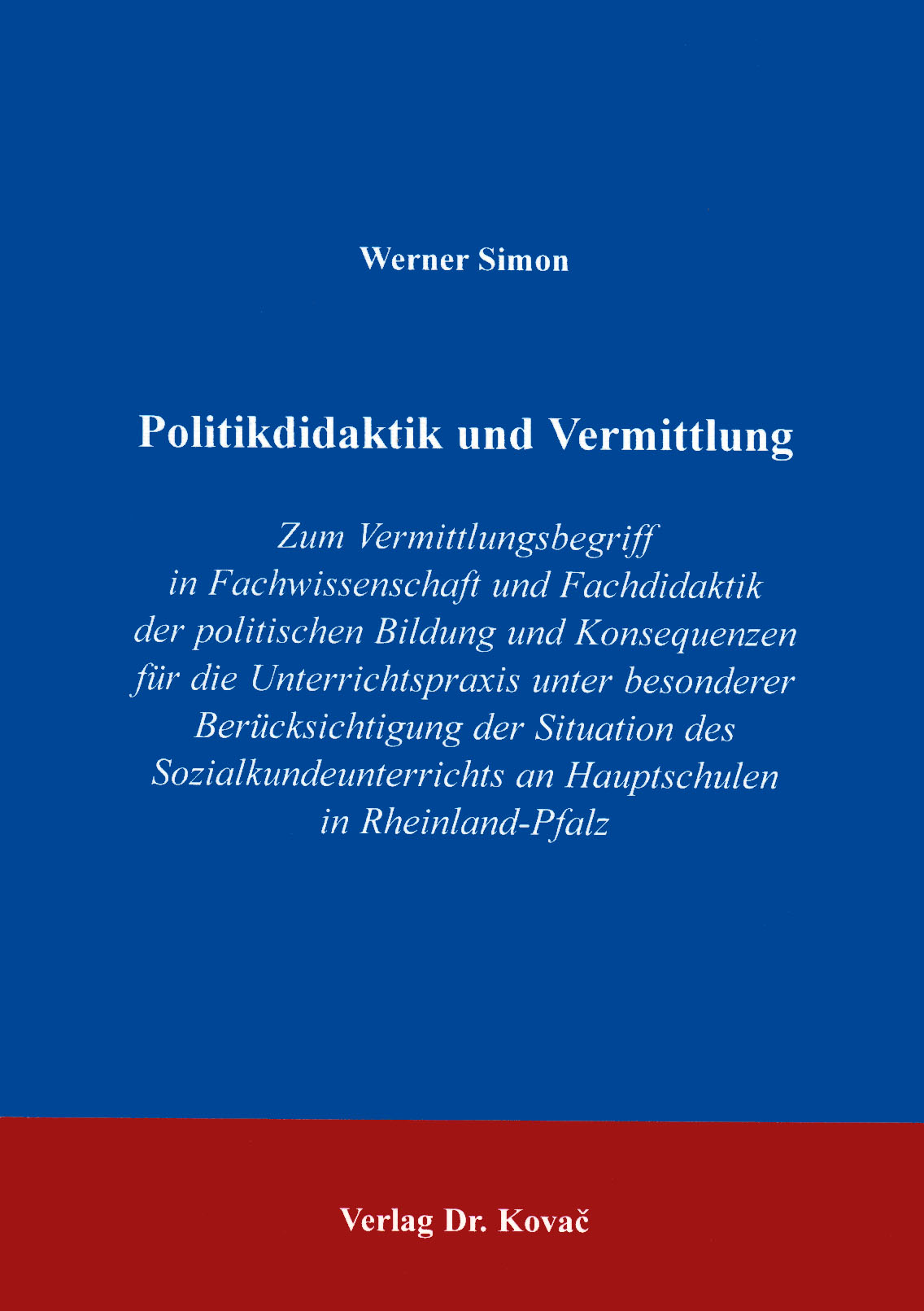 Cover: Politikdidaktik und Vermittlung