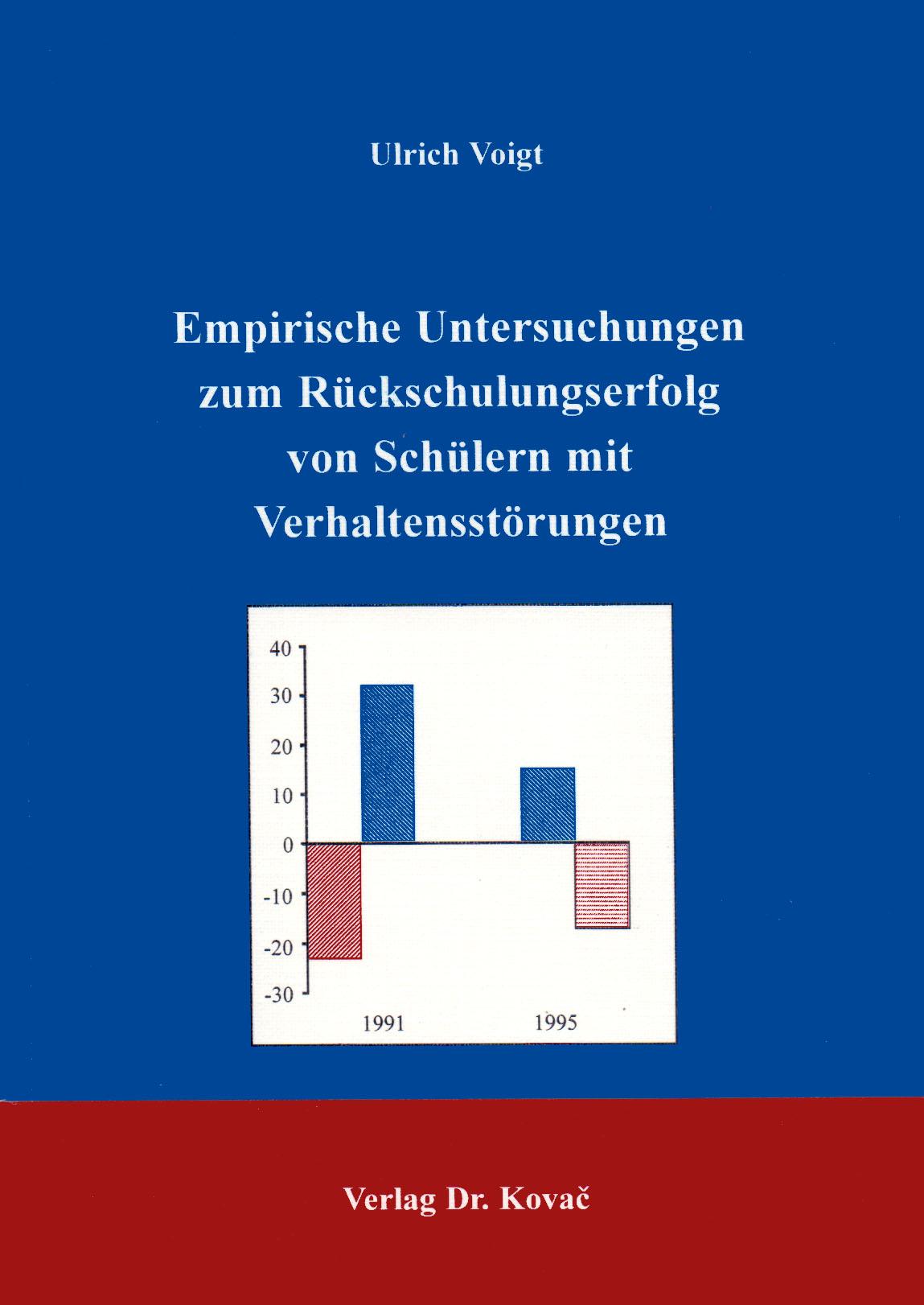 Cover: Empirische Untersuchungen zum Rückschulungserfolg von Schülern mit Verhaltensstörungen