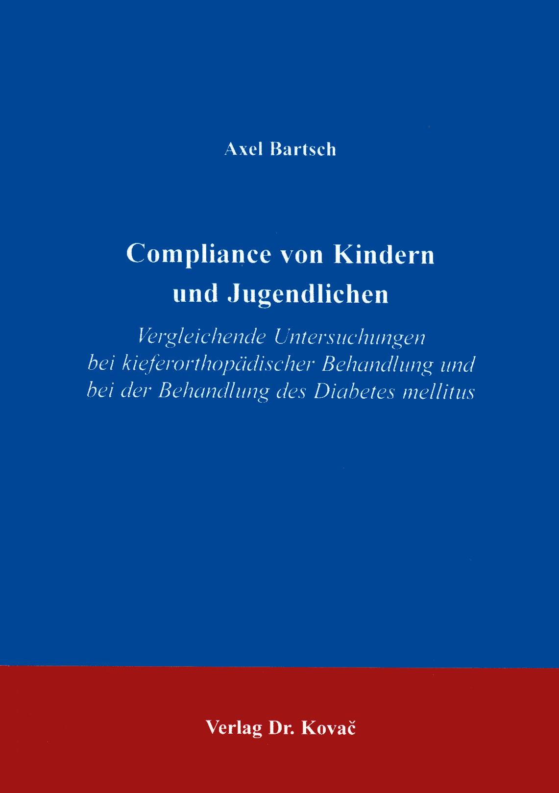 Cover: Compliance von Kindern und Jugendlichen