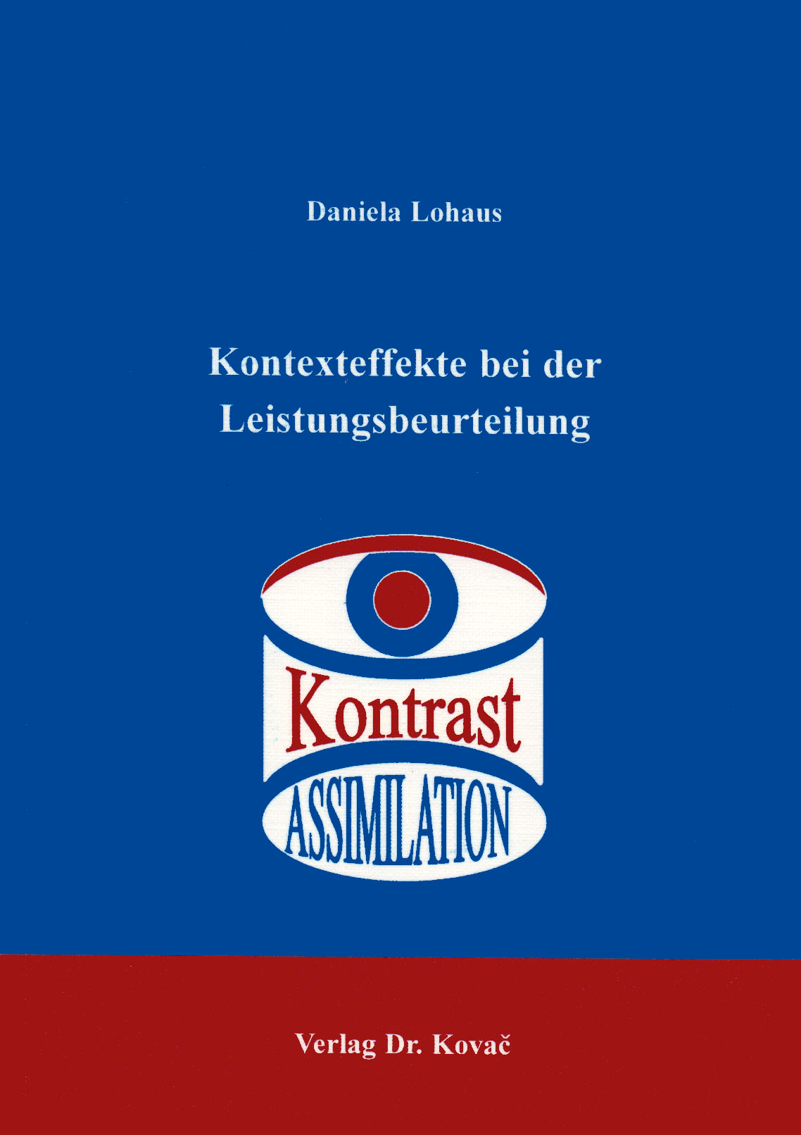 Cover: Kontexteffekte bei der Leistungsbeurteilung