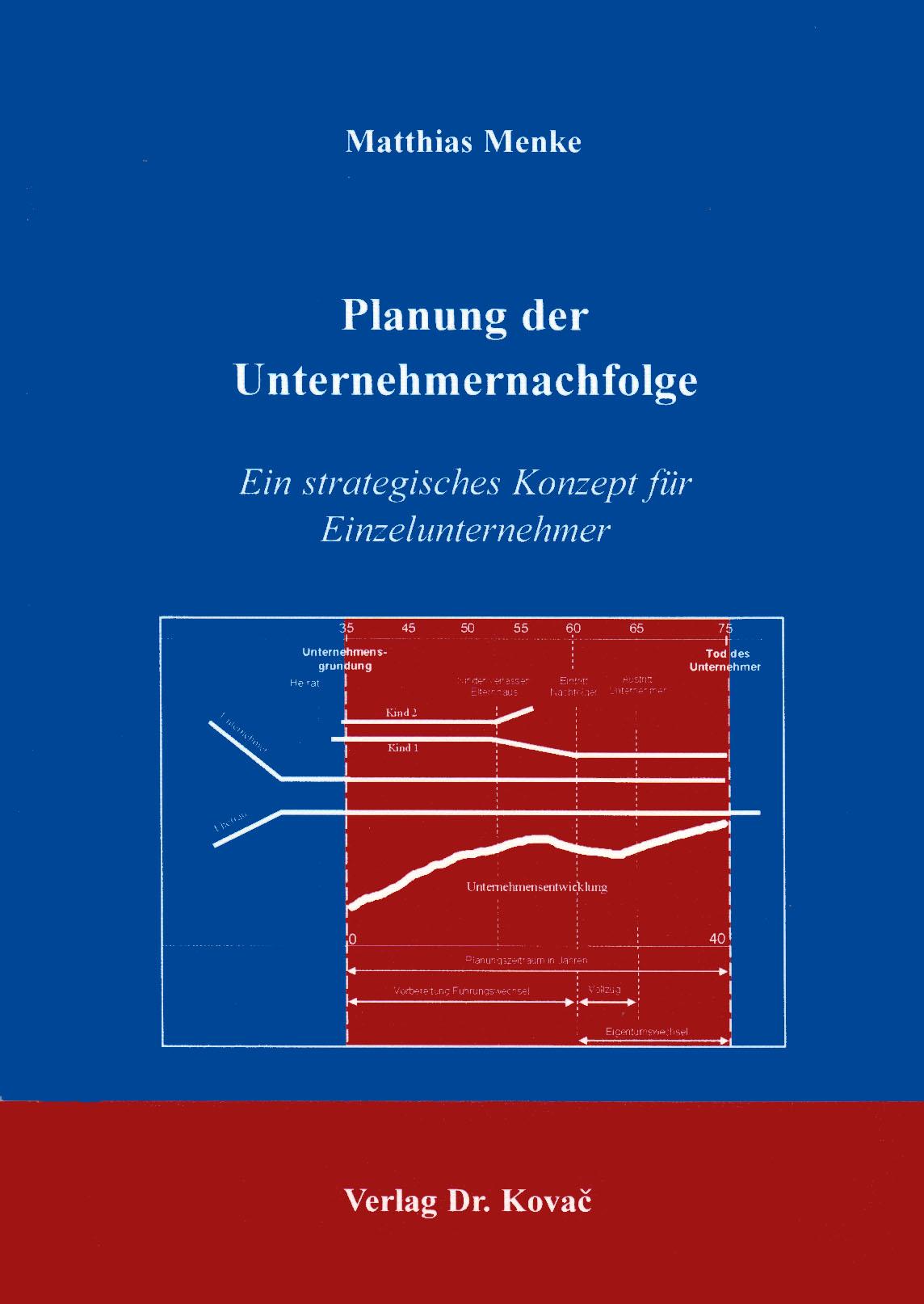 Cover: Planung der Unternehmernachfolge