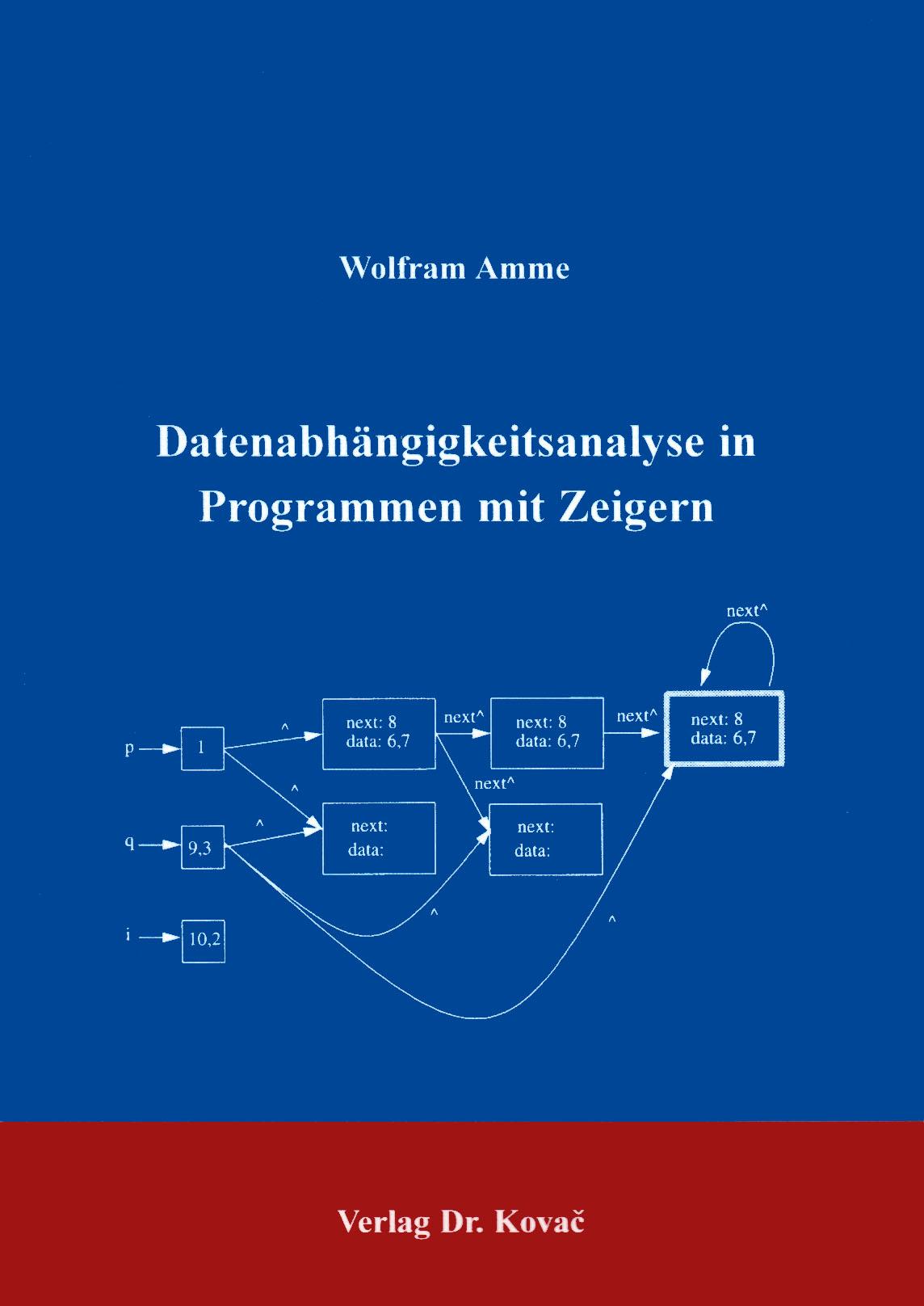 Cover: Datenabhängigkeitsanalyse in Programmen mit Zeigern
