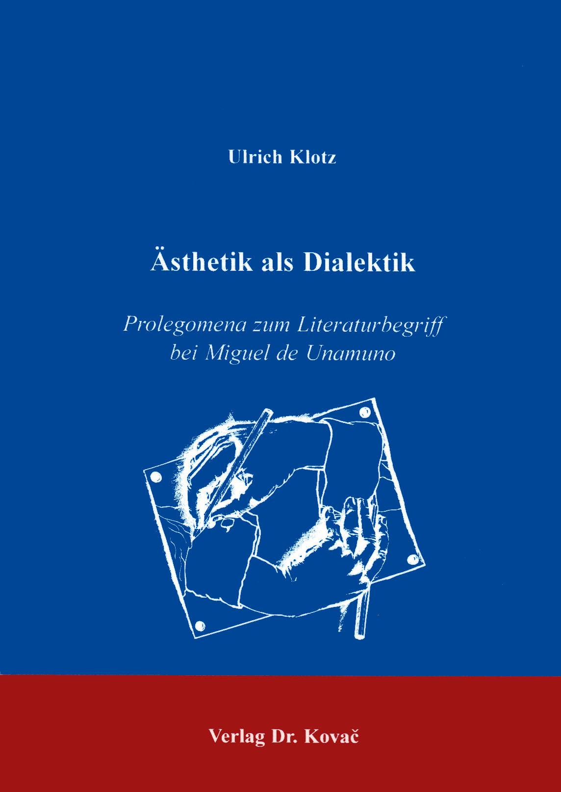 Cover: Ästhetik als Dialektik