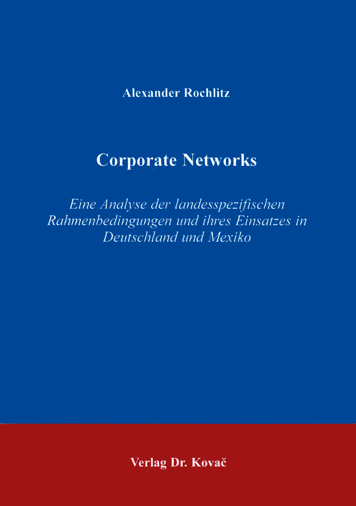 Cover: Corporate Networks