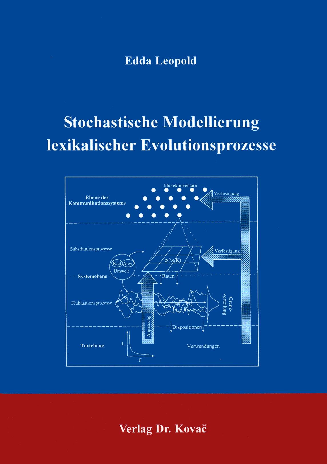 Cover: Stochastische Modellierung lexikalischer Evolutionsprozesse
