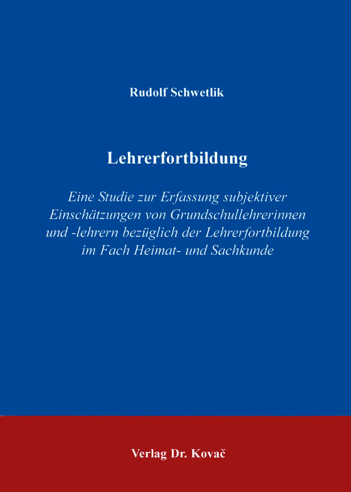 Cover: Lehrerfortbildung