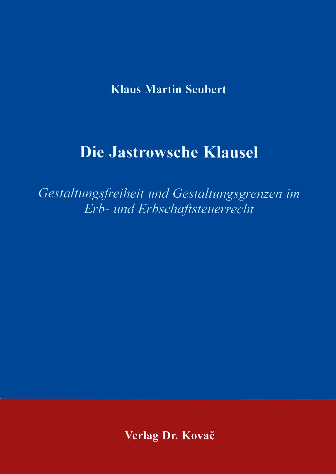 Cover: Die Jastrowsche Klausel