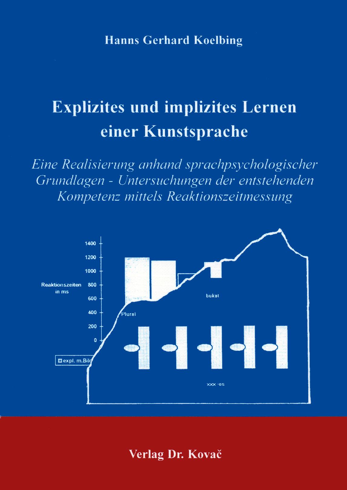 Cover: Explizites und implizites Lernen einer Kunstsprache