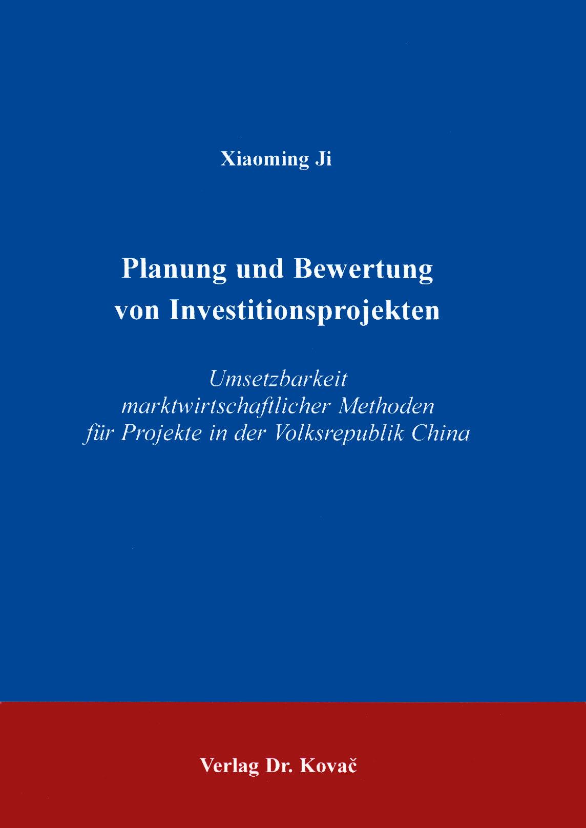 Cover: Planung und Bewertung von Investitionsprojekten