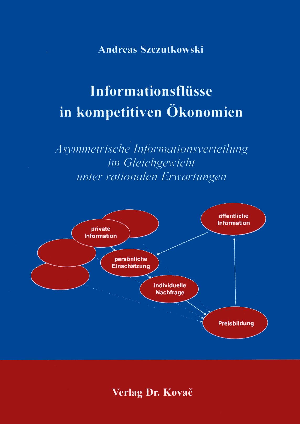 Cover: Informationsflüsse in kompetitiven Ökonomien