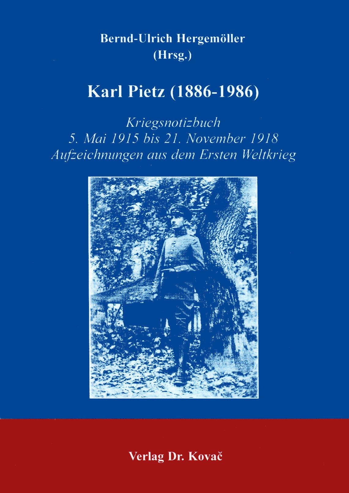 Cover: Karl Pietz (1886-1986)