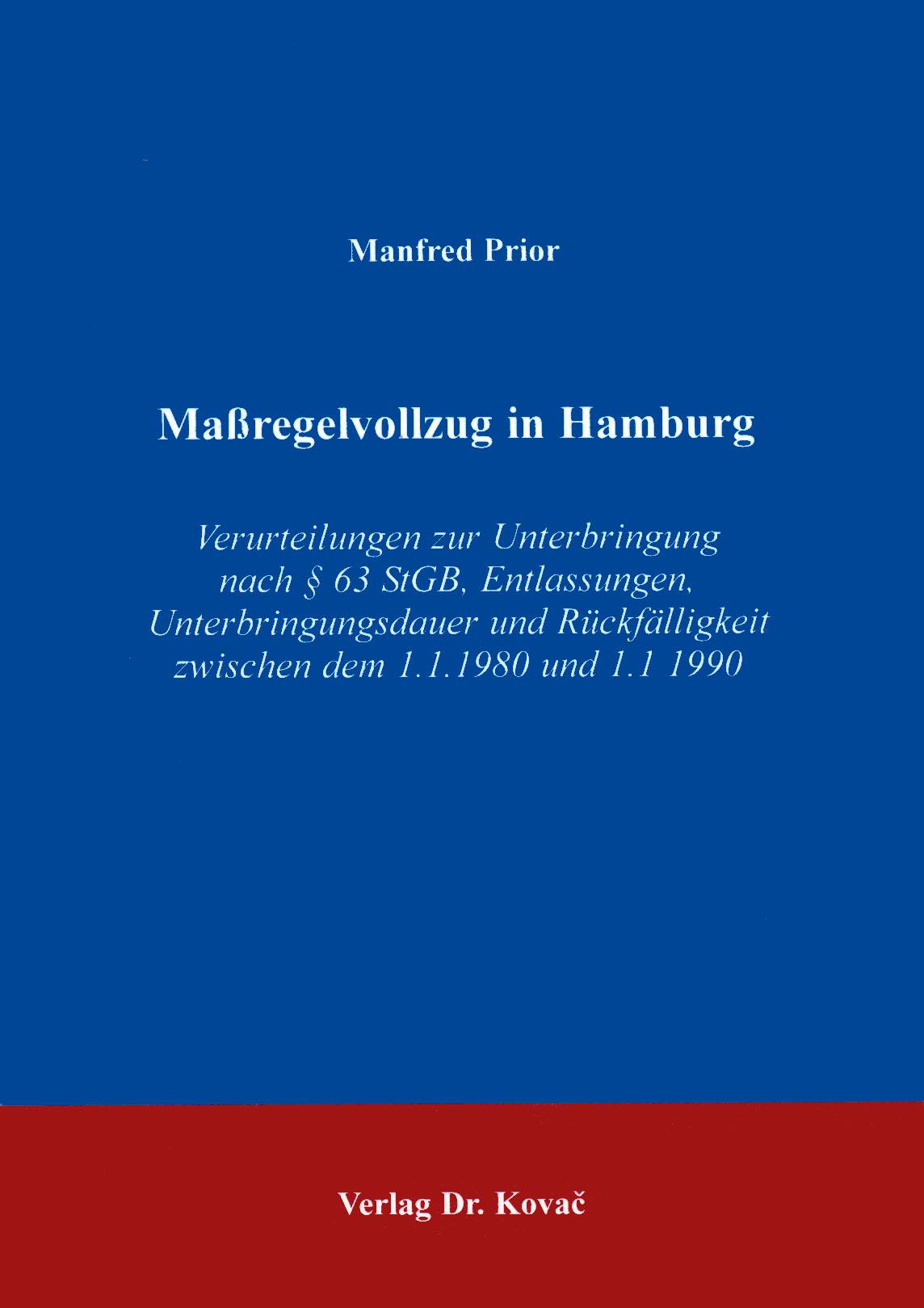 Cover: Maßregelvollzug in Hamburg