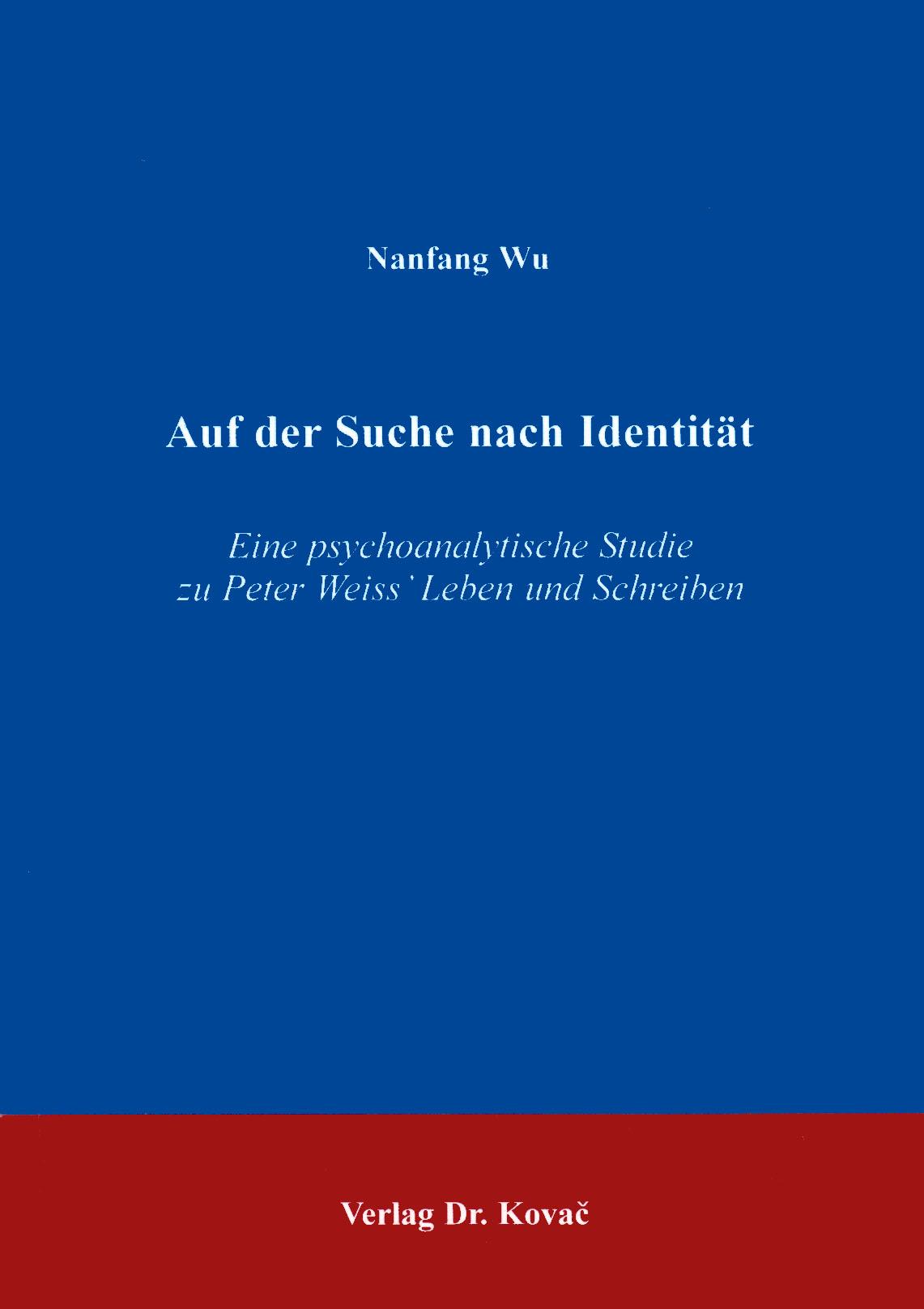 Cover: Auf der Suche nach Identität