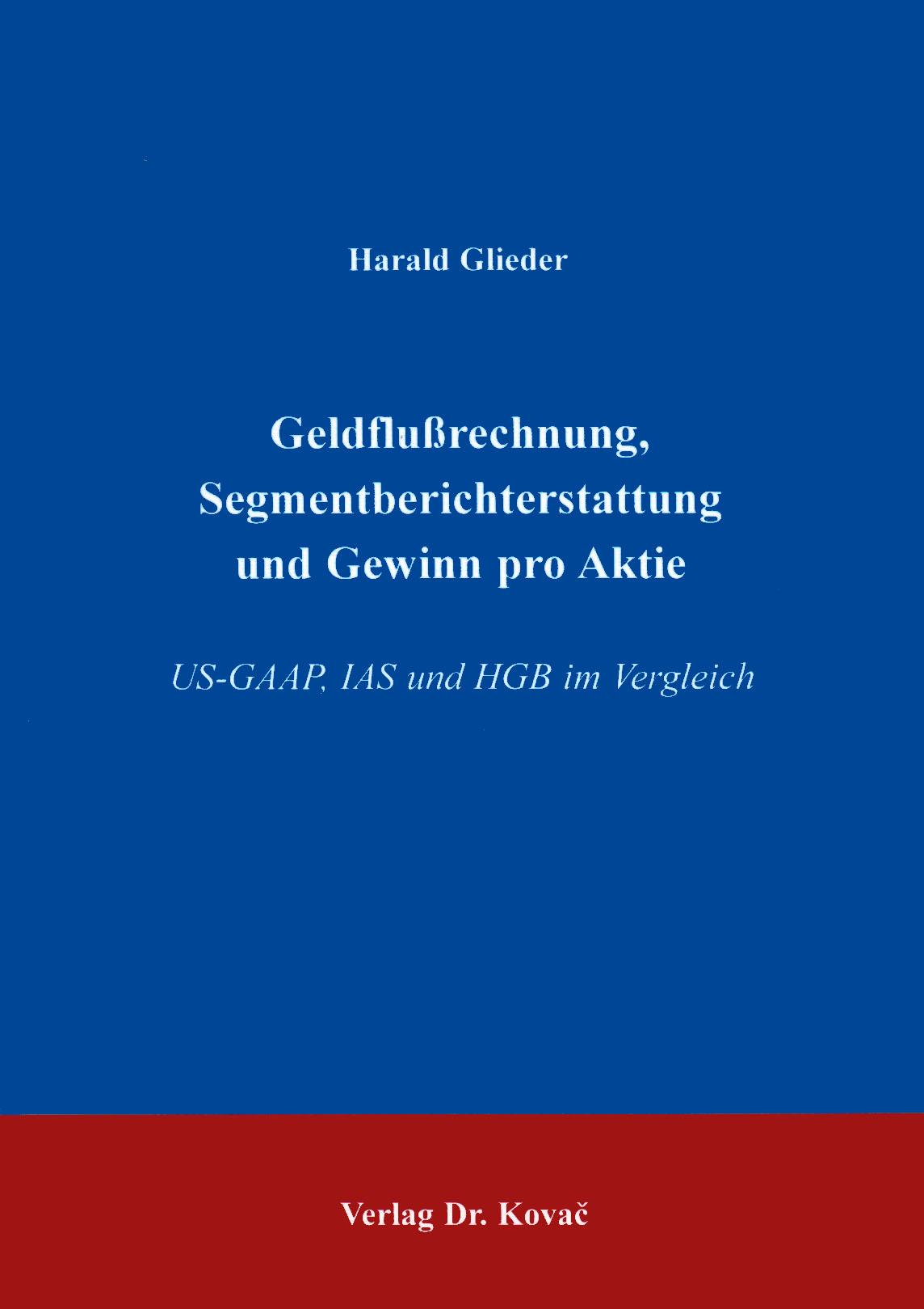 Cover: Geldflußrechnung, Segmentberichterstattung und Gewinn pro Aktie