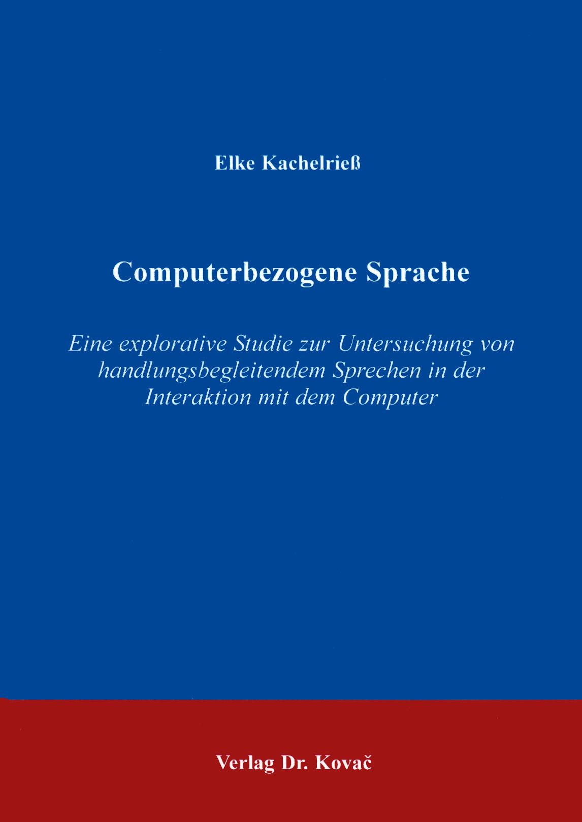 Cover: Computerbezogene Sprache
