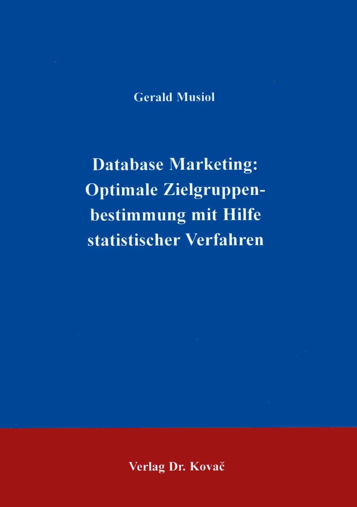 Cover: Database Marketing