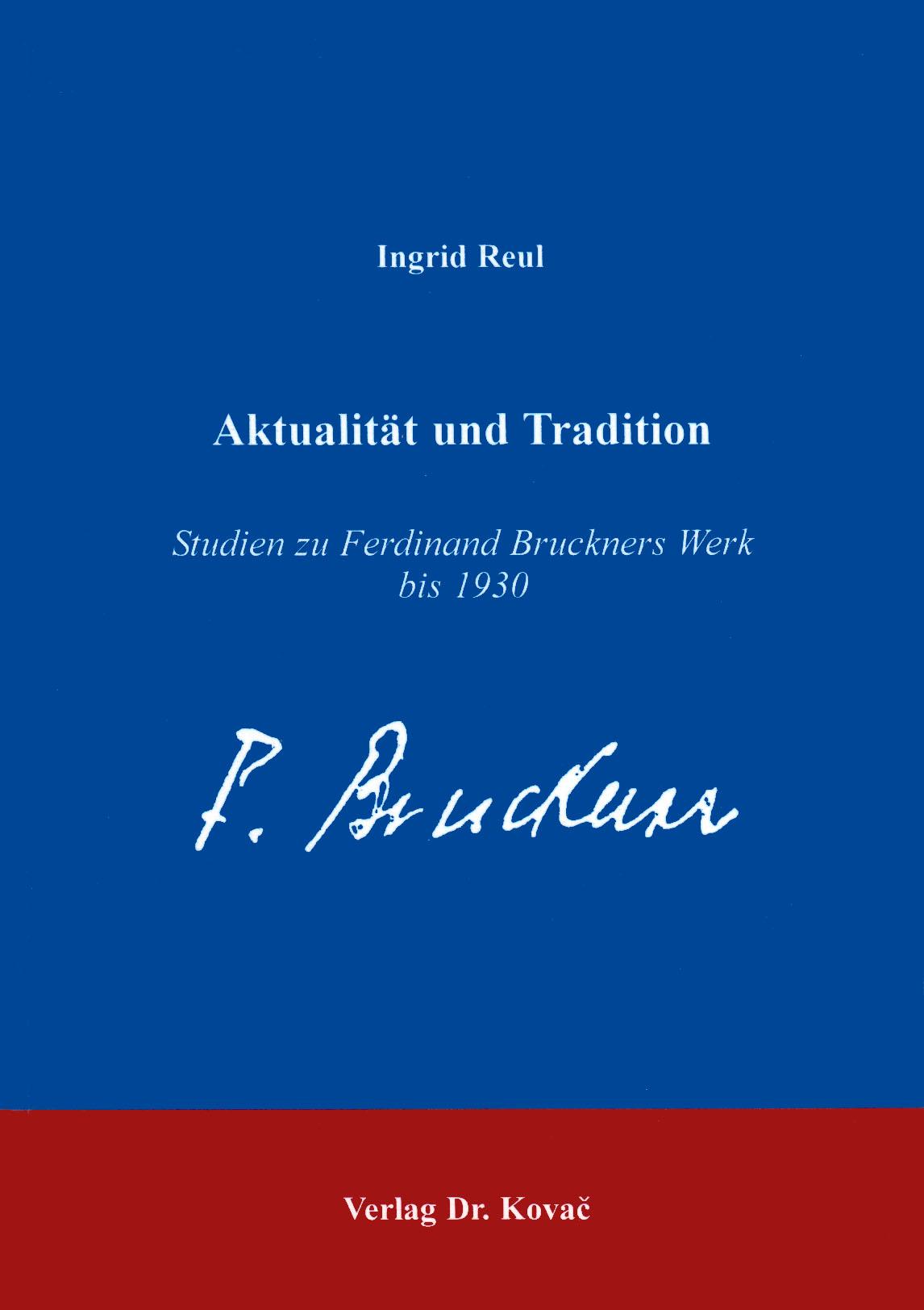 Cover: Aktualität und Tradition