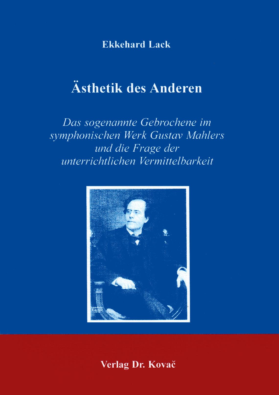 Cover: Ästhetik des Anderen