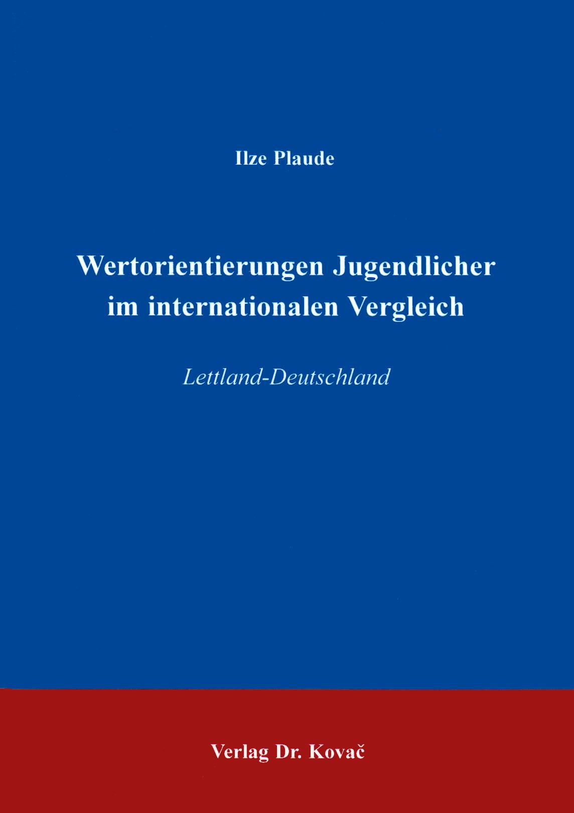 Cover: Wertorientierungen Jugendlicher im internationalen Vergleich