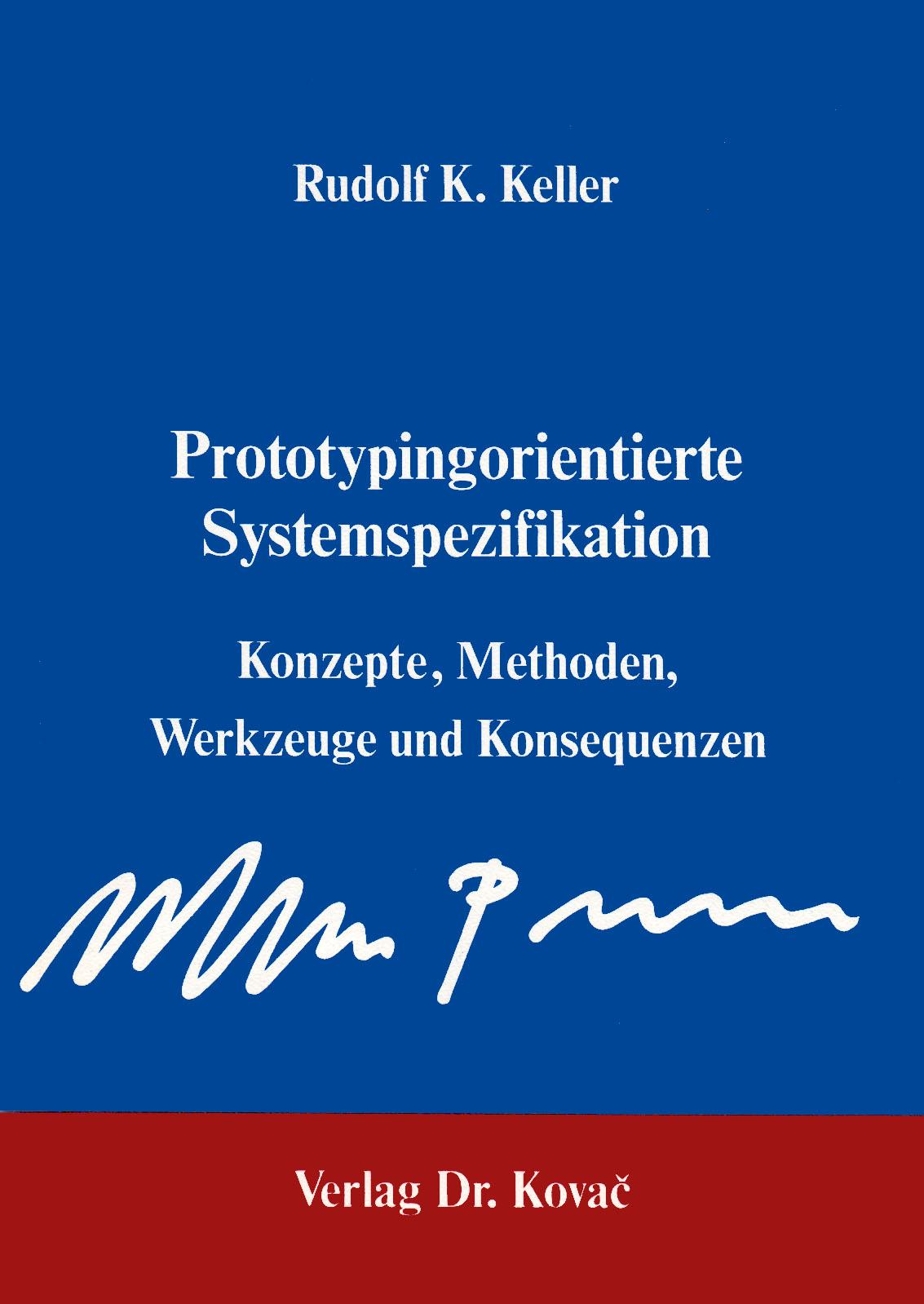 Cover: Prototypingorientierte Systemspezifikation