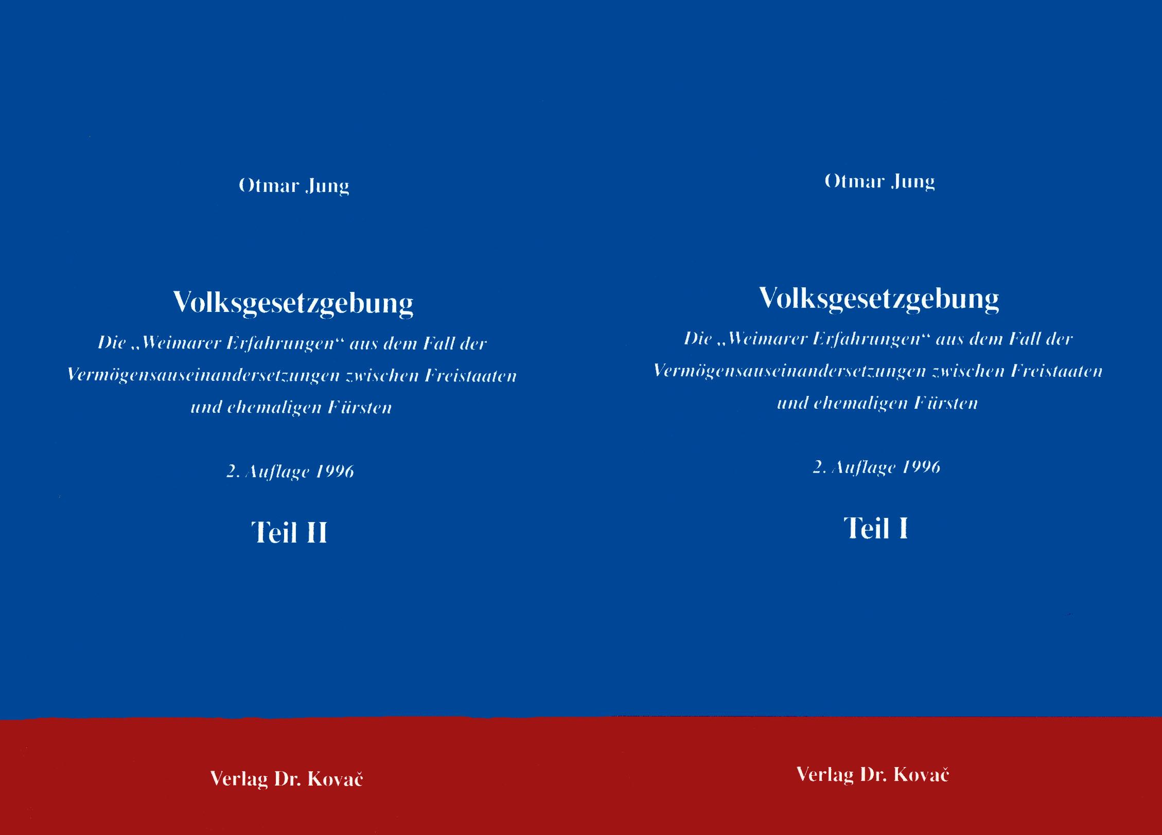 Cover: Volksgesetzgebung, 2 Aufl.
