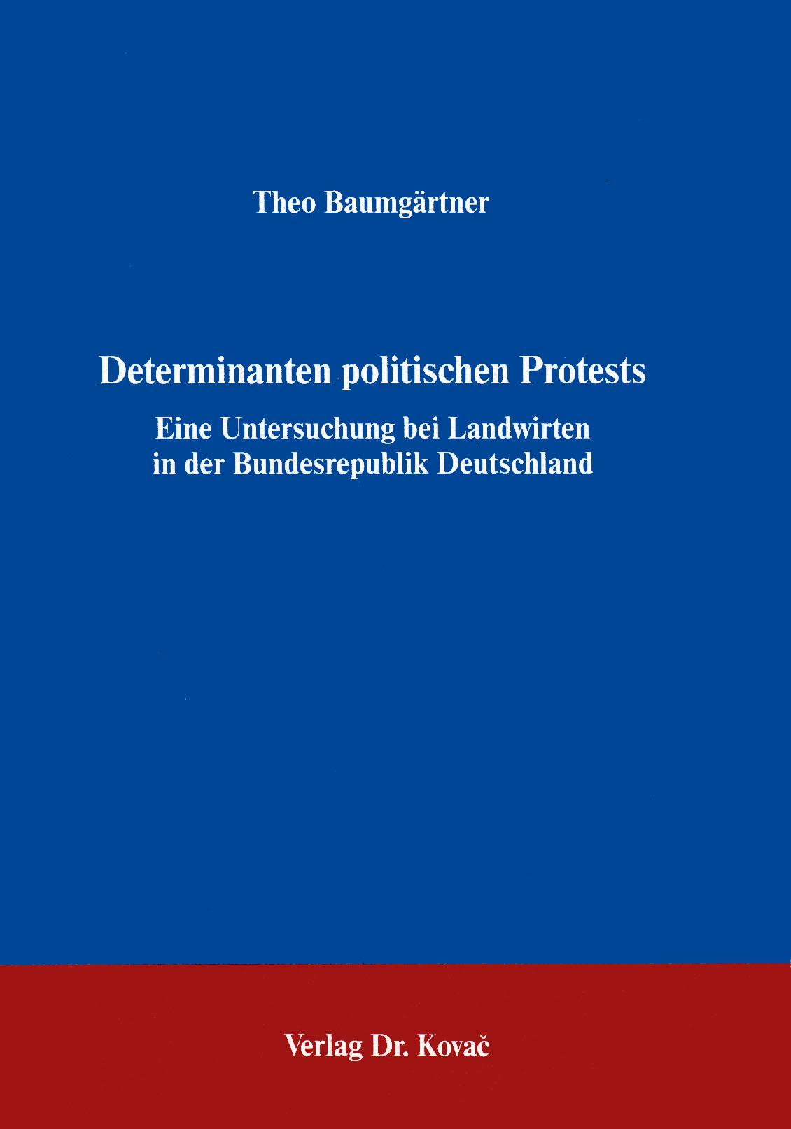 Cover: Determinanten politischen Protests