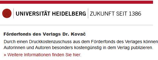VDK-Förderfonds: Uni Heidelberg