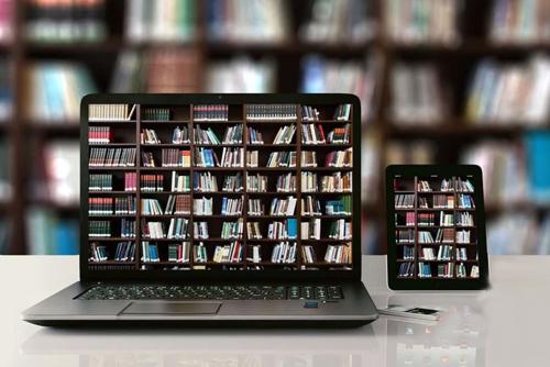 Monitore in Bibliothek