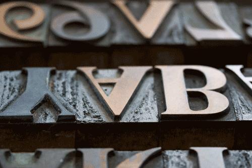 Lettern, Druckformen für den Buchdruck