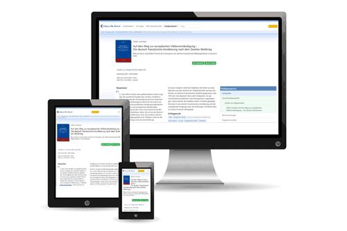 Webseite zum Buch auf verschiedenen Monitoren