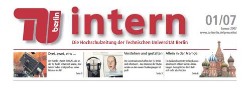 Logo TU intern, Berlin 2007